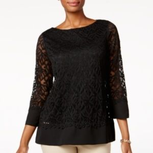 [002]Charter Club Lace Top